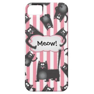 Caso borroso enrrollado del gato iPhone4 del gatit iPhone 5 Carcasas