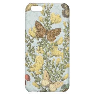 Caso botánico del iphone de las mariposas del vint
