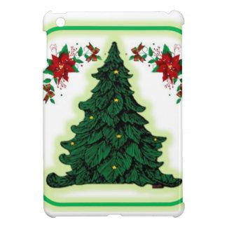 Caso brillante de Ipad del árbol de navidad mini