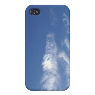 Caso brillante de Iphone del día de los cielos azu iPhone 4 Funda