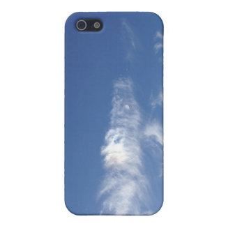 Caso brillante de Iphone del día de los cielos azu iPhone 5 Fundas