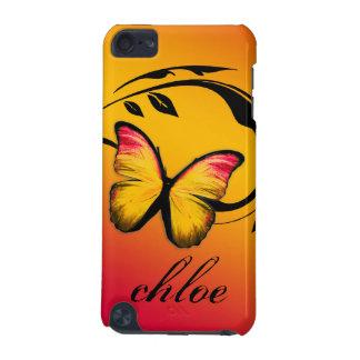 caso brillante de la puesta del sol de la mariposa funda para iPod touch 5G