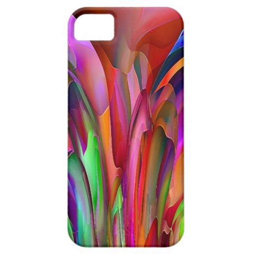 Caso brillante del extracto de los colores para el iPhone 5 carcasas