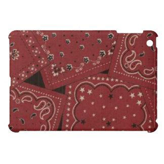Caso brillante del final del iPad rojo del pañuelo