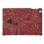Caso brillante del final del iPad rojo del pañuelo iPad Mini Cárcasas