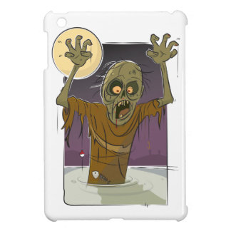Caso brillante del iPad listo del caso del zombi d