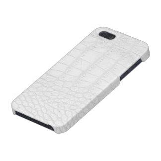 Caso brillante del iPhone 5 blancos del cocodrilo iPhone 5 Carcasas