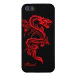 Caso brillante del iPhone 5 chinos rojos del dragó iPhone 5 Cárcasas