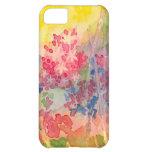 Caso brillante del iPhone 5 de la flor del jacinto