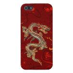 Caso brillante del iPhone 5 del dragón del fuego iPhone 5 Cobertura