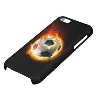 Caso brillante del iPhone 5C de la bola de fuego