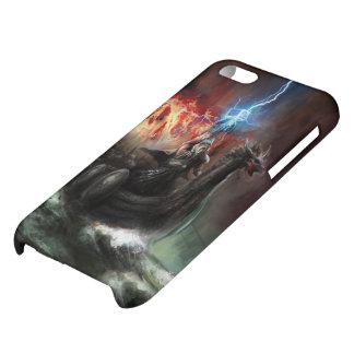Caso brillante del iPhone 5C de la nave de Viking