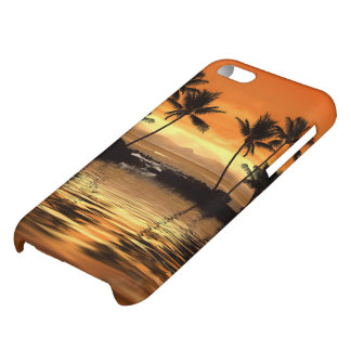 Caso brillante del iPhone 5C del paisaje marino