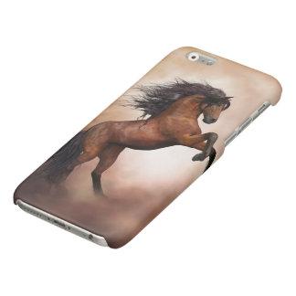 Caso brillante del iPhone 6 del caballo salvaje