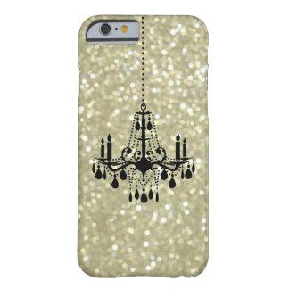 Caso brillante del iPhone 6 del oro de la lámpara Funda De iPhone 6 Barely There
