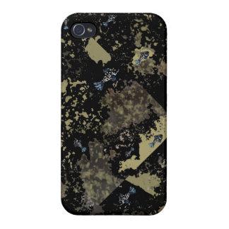 "caso brillante ""fósiles a pescado "" del iPhone 4 iPhone 4/4S Fundas"