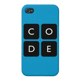 caso brillante iPhone4 del logotipo de Code.org iPhone 4 Carcasa