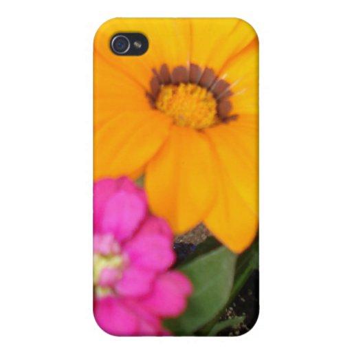 Caso brillante lindo de Iphone 4/4S de la flor del iPhone 4 Carcasa