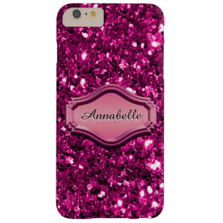 Caso brillante rosado simulado atractivo del funda para iPhone 6 plus barely there