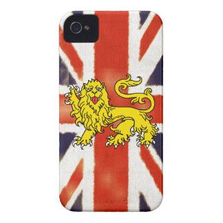 Caso BRITÁNICO del iPhone 4S de la bandera del vin iPhone 4 Case-Mate Protector