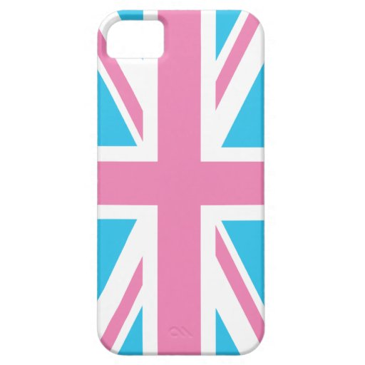 Caso BRITÁNICO rosado del iPhone 5 de la bandera Funda Para iPhone SE/5/5s