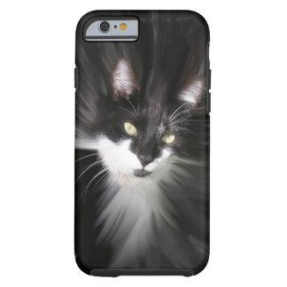 Caso brumoso del iPhone 6 del gato del smoking Funda Para iPhone 6 Tough