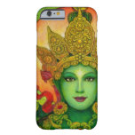 Caso budista del iPhone 6 de Tara del verde de la Funda Barely There iPhone 6