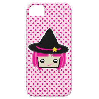 Caso cabelludo rosado del iPhone de la bruja de Funda Para iPhone SE/5/5s