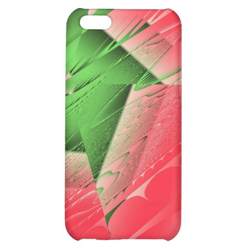 Caso caliente del iPhone de Frac del rosa verde