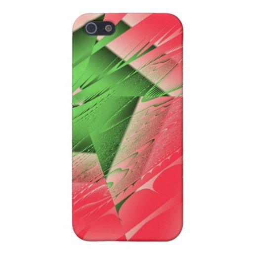Caso caliente del iPhone de Frac del rosa verde iPhone 5 Protectores