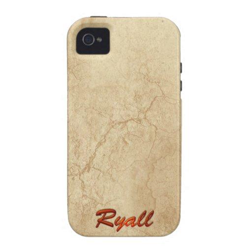 Caso calificado conocido del iPhone 5 de RYALL iPhone 4/4S Fundas