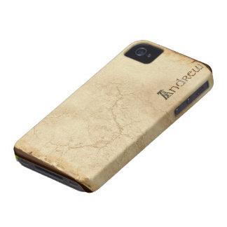Caso calificado nombre del iPhone 4 de ANDREW Case-Mate iPhone 4 Coberturas