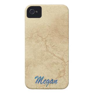 Caso calificado nombre del iPhone 4 de MEGAN iPhone 4 Case-Mate Cobertura