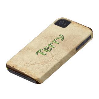 Caso calificado nombre del iPhone 4 de TERRY Case-Mate iPhone 4 Protectores