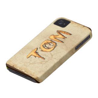 Caso calificado nombre del iPhone 4 de TOM Case-Mate iPhone 4 Protectores