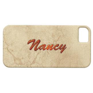 Caso calificado nombre del iPhone 5 de NANCY iPhone 5 Carcasas