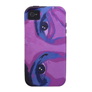 Caso cambiante del iphone de las púrpuras Case-Mate iPhone 4 fundas