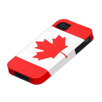Caso canadiense del iPhone 4/4S de la bandera iPhone 4 Fundas