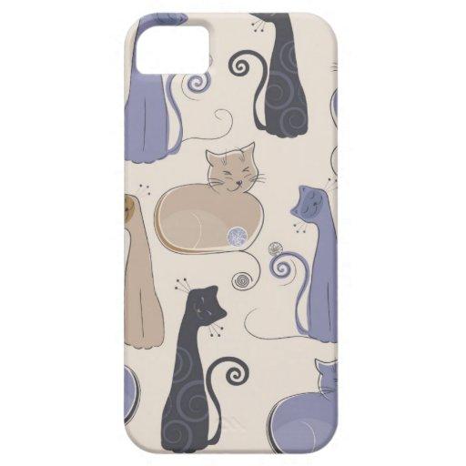 Caso caprichoso del iPhone 5 de los gatos iPhone 5 Carcasas