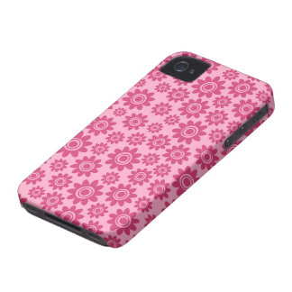 Caso caprichoso rosado del iPhone 4 del estampado iPhone 4 Cárcasa