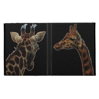 caso caseable del ipad de las jirafas