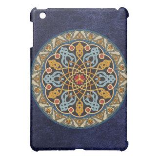 Caso céltico del iPad del cuero del círculo del mo