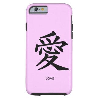 Caso chino del iPhone 6 del amor del símbolo Funda Para iPhone 6 Tough