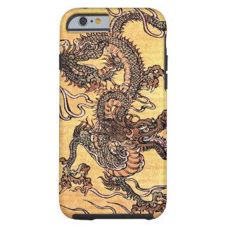 Caso chino del iPhone 6 del dragón del vintage Funda De iPhone 6 Tough