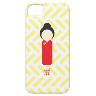 """Caso chino del iPhone de la muñeca - """"amor """" iPhone 5 Carcasa"""