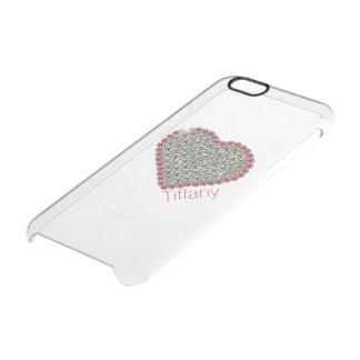 Caso claro de encargo del iPhone 6 del corazón Funda Clearly™ Deflector Para iPhone 6 De Uncommon
