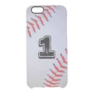 caso claro del béisbol del iPhone 6 Funda Clearly™ Deflector Para iPhone 6 De Uncommon