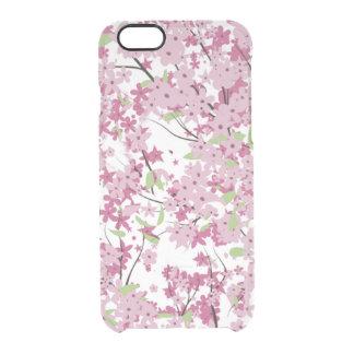 Caso claro del iPhone 6 de la flor de cerezo
