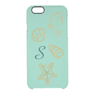 Caso claro del iPhone 6 de los Seashells y del Funda Clearly™ Deflector Para iPhone 6 De Uncommon