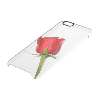 Caso claro del iPhone 6 del rosa rojo Funda Clearly™ Deflector Para iPhone 6 De Uncommon